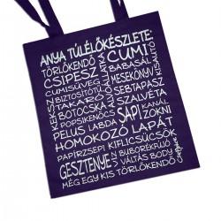 Indigókék anyuci táska