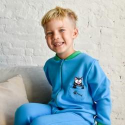Kék cicás pizsama