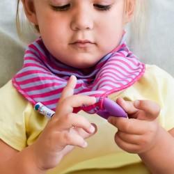 Pink csíkos rágókás babasál
