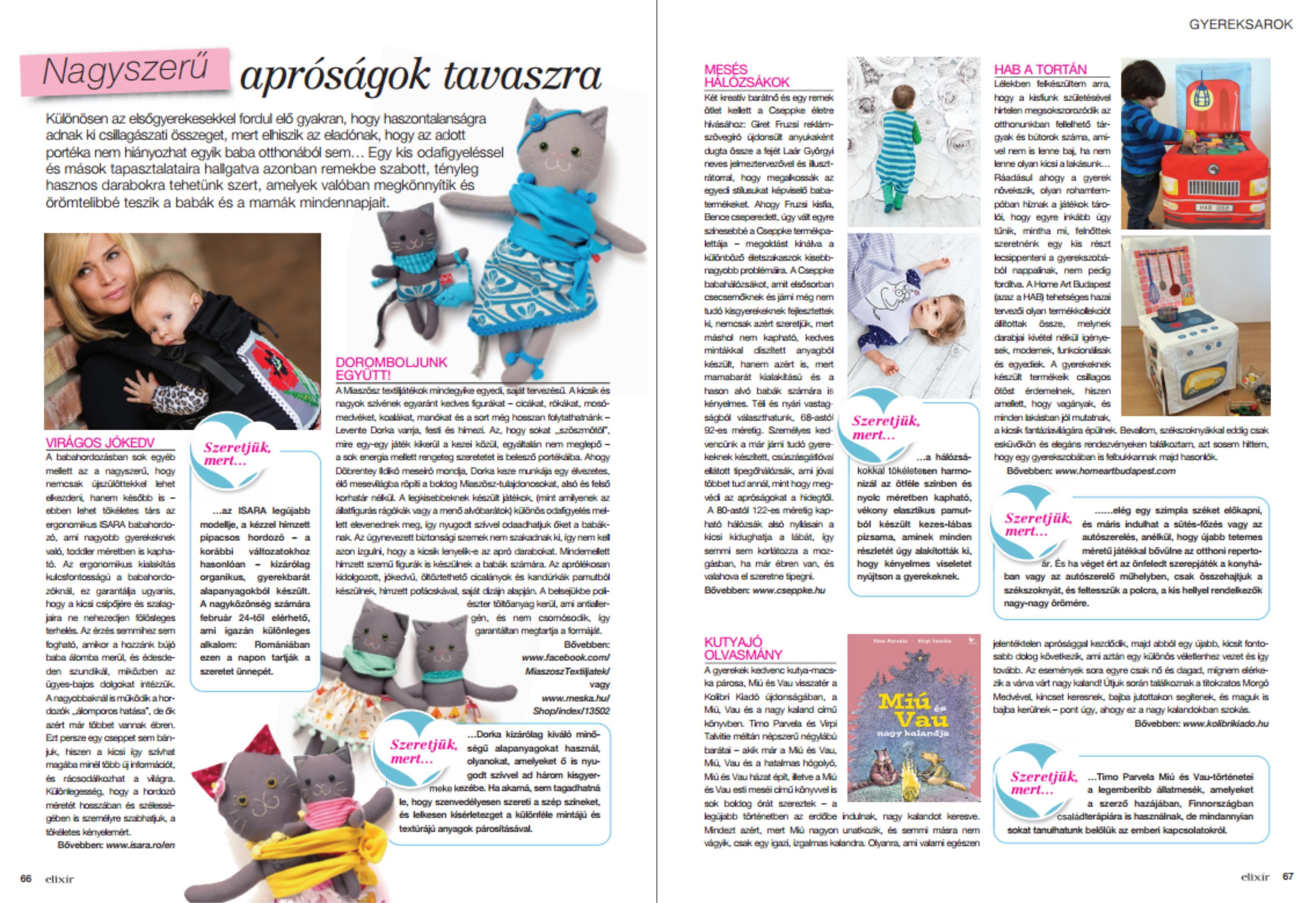 Elixír magazin megjelenés